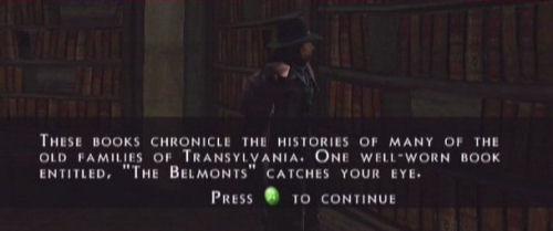 Van Helsing hoksaa Belmont kirjan